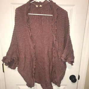 Anthropologie Pink Sweater